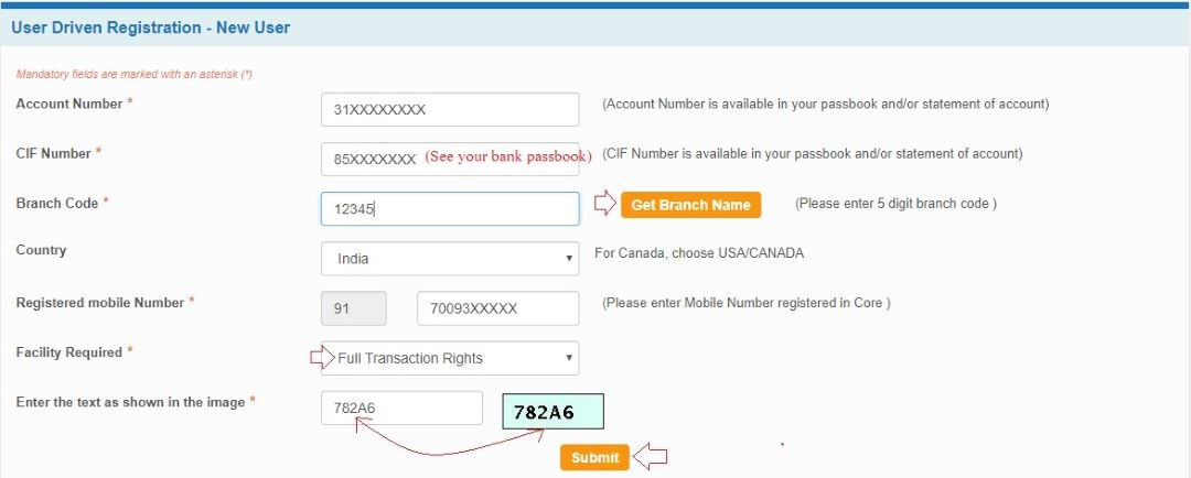 sbi net banking registration