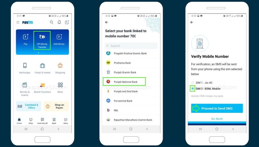 How to link bank account with Paytm